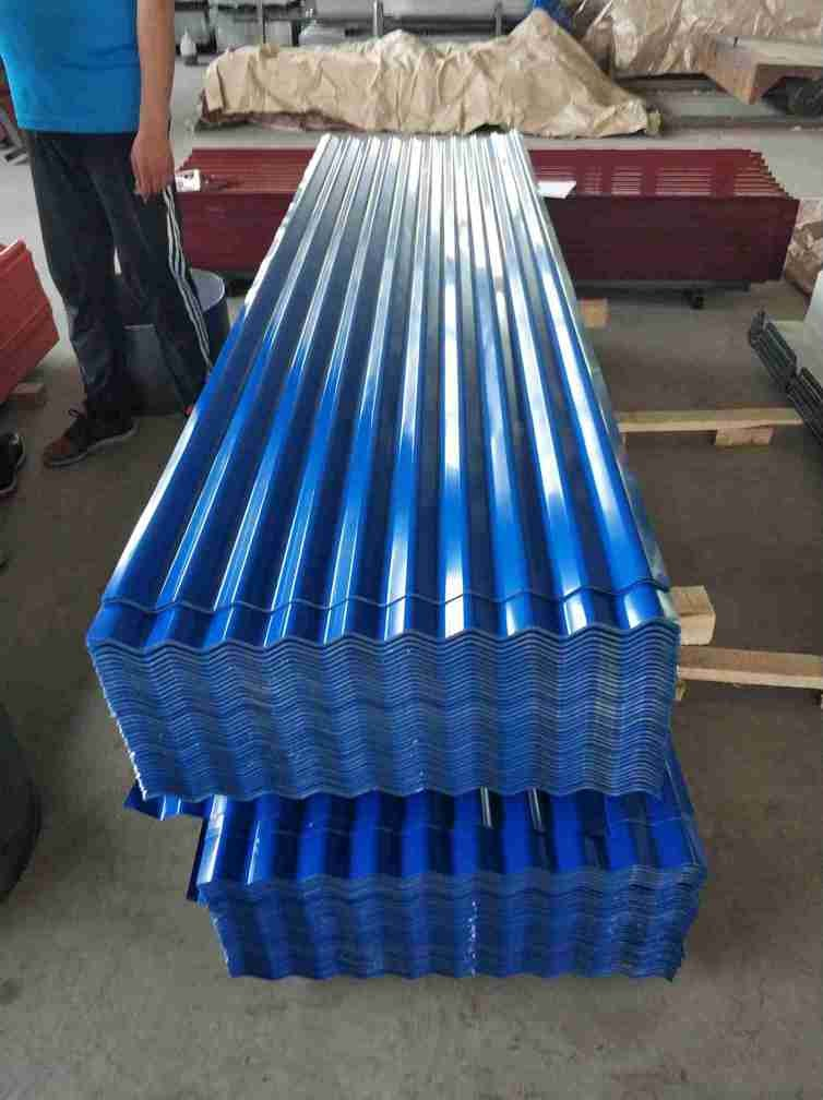 24 Gauge Metal Roofing Sheets , ASTM CGCC Galvanized Corrugated Panels